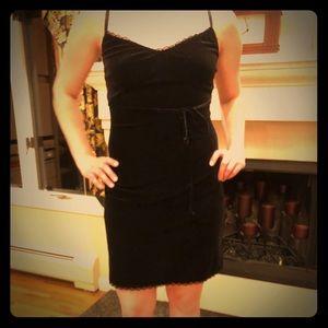 Betsy Johnson Velvet black mini dress